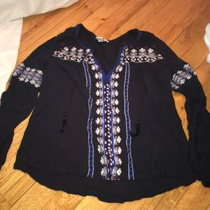 Forever 21 long sleeve peasant top